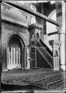 Masjid al-Aqsa: Original Saladin Minbar: Photo Credit: Matson collection 1914